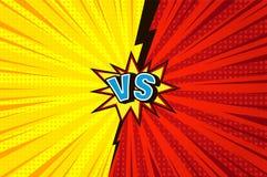 Konkurrenskraftigt begrepp för komiker kontra royaltyfri illustrationer