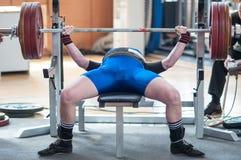 Konkurrensmän Powerlifting Royaltyfri Bild