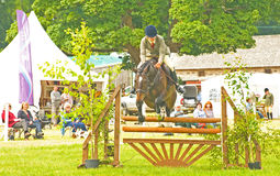 Konkurrent bei Burgie 2011. Stockfotografie