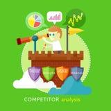 Konkurrentanalysbegrepp vektor illustrationer