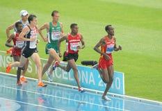 Konkurrenten der 5000m Männer Stockbild