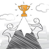 konkurrenter vektor illustrationer