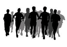 Konkurrenz auf dem Lack-Läufer Lizenzfreies Stockbild
