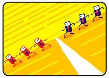 Konkurrenz durch Karikatur stock abbildung