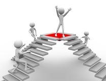 Konkurrenz für Erfolg stock abbildung