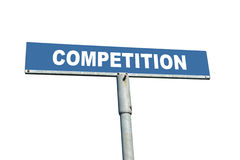Konkurrenz Signpost Stockfoto