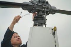 Konkurrenzen auf Hubschraubersport in Russland. Stockfotografie