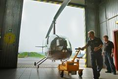 Konkurrenzen auf Hubschraubersport in Russland. Stockbild