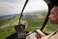 Konkurrenzen auf Hubschraubersport in Russland. Stockbilder