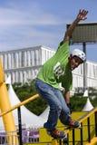 Konkurrenzfähige Inline-eislaufen(Geländer-) Tätigkeit Lizenzfreie Stockbilder