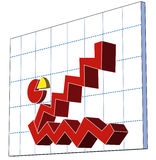 Konkurrenzfähiges Geschäftsdiagramm Stockfoto