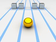Konkurrenzkonzept Stockfoto