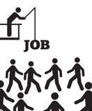 Konkurrera för jobb Arkivbilder