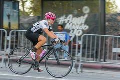 Konkurrera för cyklist Fotografering för Bildbyråer