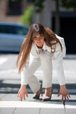 Konkurrierende Geschäftsfrau Lizenzfreie Stockfotografie