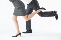 Konkurrierende Geschäftsleute stockfotos