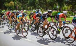 Konkurrierende Radfahrer Stockfoto
