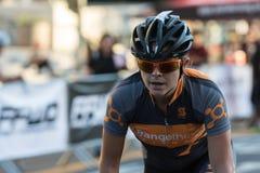 Konkurrierender Radfahrer Stockbilder
