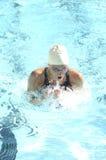 Konkurrierender Schwimmer Stockfoto
