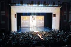 Konkursanta piękno Rosja 2012 na scenie Zdjęcia Stock