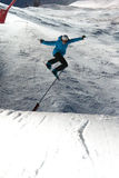konkursu skoku skok snowboard Obraz Stock