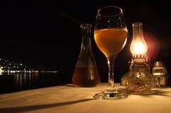 Konoba. Diner at my favorite restaurant in montenegro Royalty Free Stock Photography