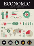 Ökonomisches infographic Stockfotografie