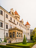 Konopiste Castle with beautiful garde. Historical meadieval chateau in central Bohemia, Czech Republic, Europe Stock Images