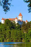Konopiste Castle in Czech Republic and pond Stock Photos
