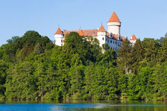 Konopiste Castle in Czech Republic and pond Royalty Free Stock Photography