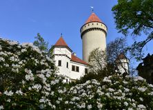 Konopiste castle,Czechrepublic. Konopiste castle near Prague in Czechrepublic stock images