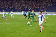 Konoplyanka with the ball Stock Images