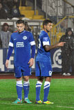 Konoplyanka and Matheus closed their eyes Stock Photos