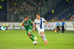 Konoplyanka Yevgen with the ball Royalty Free Stock Photography
