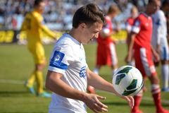 Konoplyanka Yevgen with the ball Royalty Free Stock Image