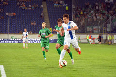 Konoplyanka Yevgen is running with the ball Stock Images