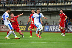 Konoplyanka Yevgen is running with the ball Stock Photo
