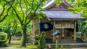 Konpira relikskrin En japansk shintorelikskrin i Nagasaki, Japan Royaltyfri Foto