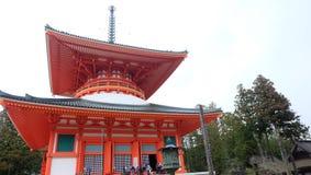 Konpon Daito em Koyasan fotos de stock royalty free