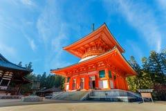 Konpon Daito Pagoda in Koyasan, Wakayama Stock Photo