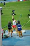 Konrad Bukowiecki, un athlète polonais à Rio2016 photos libres de droits