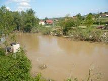 Konsequenz der nicht alten Flut des Flusses Lizenzfreie Stockbilder