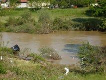 Konsequenz der nicht alten Flut des Flusses Lizenzfreie Stockfotos