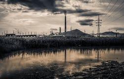 Konsequenzen der Verschmutzung von der chemischen Industrie stockfoto