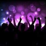 Konsert- eller klubbabakgrund royaltyfri illustrationer