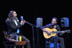 Konsert för Diego el Cigala flamencosångare i Gijon Royaltyfri Fotografi