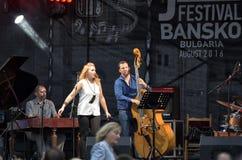 Konsert för jazzfestival i Bansko, Bulgarien Arkivfoton