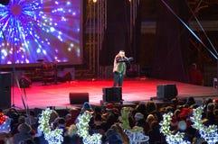 Konsert för nytt år för Varna stad Arkivbilder