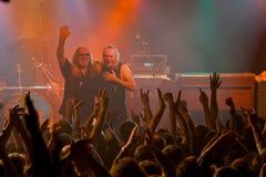 Konsert för URIAH HEEP på den Progresja WarszawaPolen klubban på November 5, 2008 Arkivbild