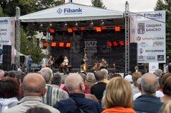 Konsert för jazzfestival i Bansko, Bulgarien Fotografering för Bildbyråer